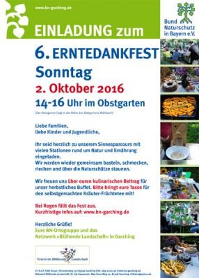Erntedankfest des Bundes Naturschutz Garching @ Obstgarten Garching